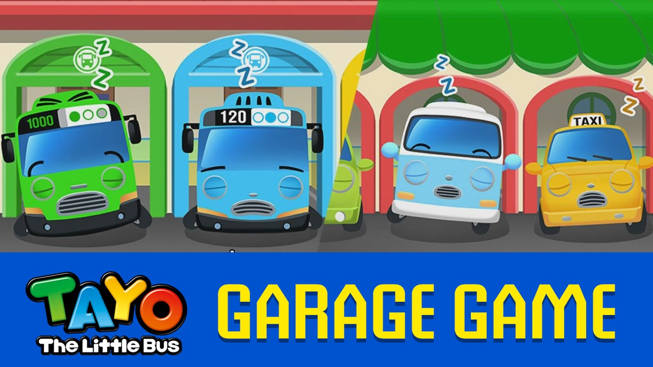 En Tayo Garage Game 01 Wake Up Game Youtube