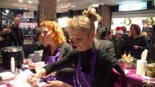 Gezellige kerstproeverij in winkelcomplex De Zeeland in Bergen op Zoom