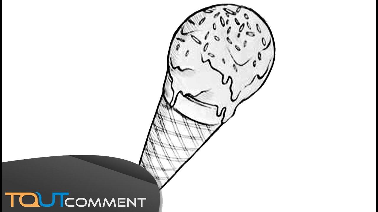 Draw an ice cream dessiner une glace youtube - Immagini di aquiloni per colorare ...