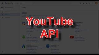 YouTube API Tutorial #1 - How To Get Data API Key