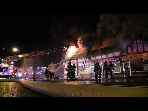 2-11 Box Alarm Midlothian,IL Fire Dept. Fully Involved Strip Mall Fire