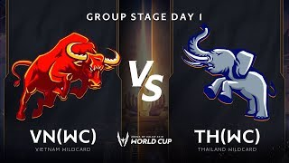 Việt Nam Wildcard vs Thái Lan Wildcard - Bảng A - Vòng bảng AWC 2019 - Garena Liên Quân Mobile