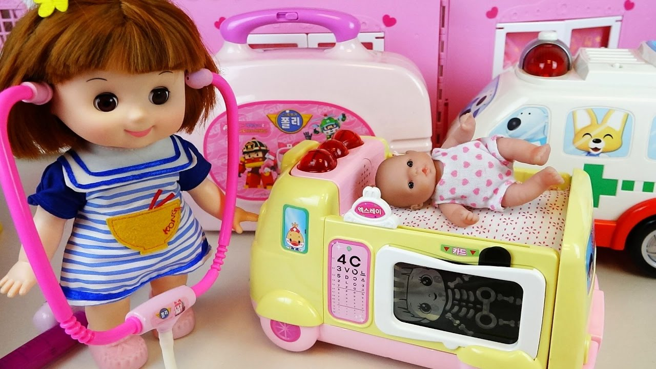 Download Doctor Kit and Baby doll ambulance hospital car toys play