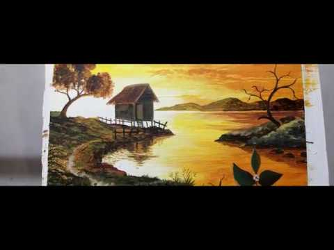 sunrise painting.time lapse painting ;paint with bernie