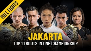 Top 10 Jakarta Bouts | ONE: Full Fights
