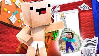 Noob Se Queda Atrapado Dentro De Una Botella En Minecraft 😱