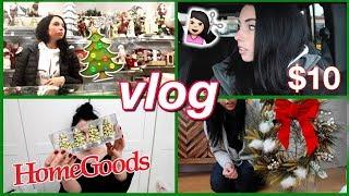 Haircut, Holiday Decor Shopping! HomeGoods, $10 DIY Wreath, Behind the Scenes Filming...WEEK VLOG!