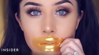 People are using 24-karat gold lip masks to plump up their lips