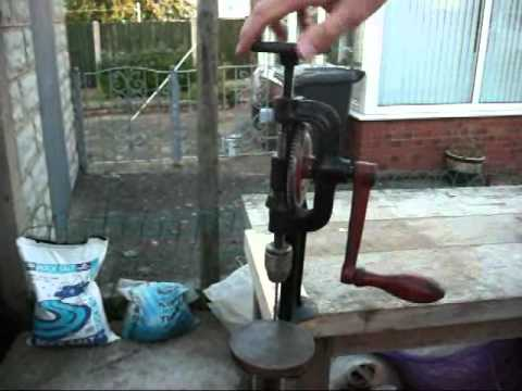 Vintage Bench Mounted Hand Pillar Drill Youtube