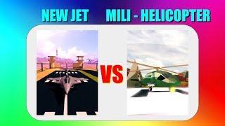 Nouveau Jet VS hélicoptère militaire à Jailbreak! (Roblox)