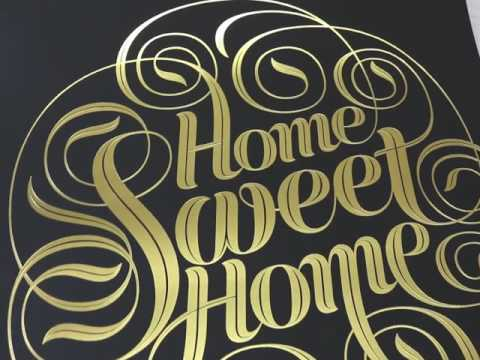 Home Sweet Home - Gold Foil Limited Edition Art Print