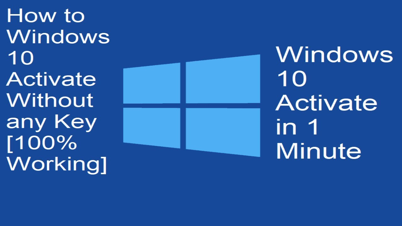 How to Activate Windows 10 Without any Product Key[100% ...