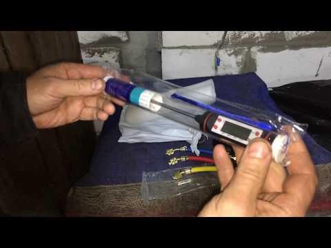 Термометр и удлинители с кранами для заправки авто кондиционера