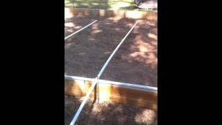 Building A Greenhouse Part 7 (spacing Tip While Connecting The Pvc)