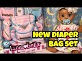 LUVABELLA NEW NURSERY SET AND  DIAPER BAG AND ACCESSORIES 10 new items in this fun baby kit