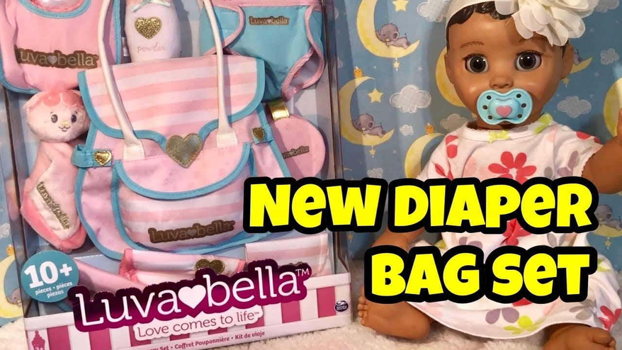 LUVABELLA NEW NURSERY SET AND DIAPER BAG AND ACCESSORIES 10 new