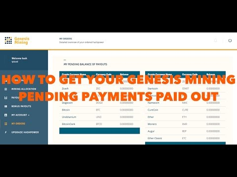 HOW TO GET YOUR GENESIS MINING PENDING PAYMENTS PAID OUT