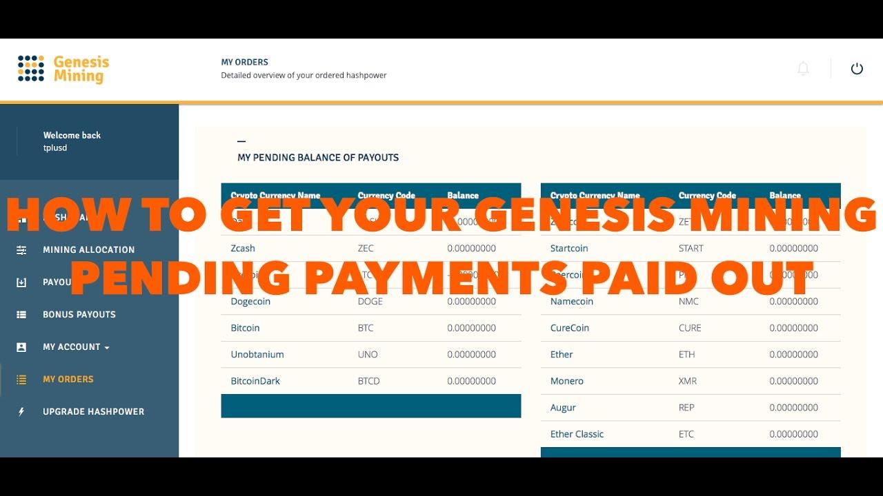 Genesis Mining Payout Delay No Deposit Bitcoin Cloud Mining