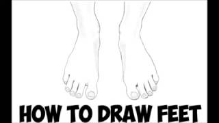 How to Draw Feet Front View Easy Step by Step for Beginners - How to Draw the Foot