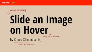 slide an image on hover using a css transition
