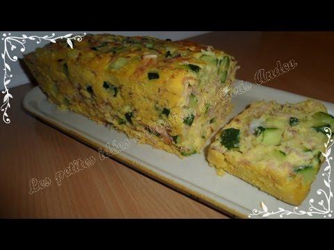 cake-courgette,-jambon-et-chèvre