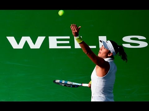 2017 BNP Paribas Open Second Round | Garbiñe Muguruza vs Flipkens | WTA Highlights