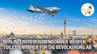 Berlin: Erste Rosinenbomber werfen Toilettenpapier für die Bevölkerung ab