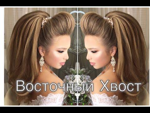 Красивая прическа на средние волосы на свадьбу