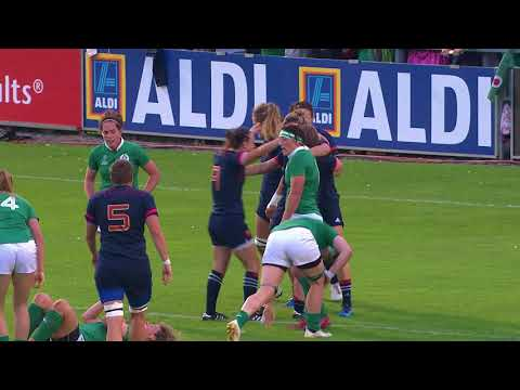 WRWC Highlights: France beat Ireland 21 - 5 to progress to the semi-finals