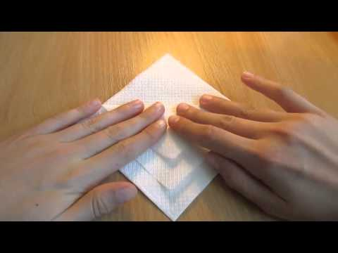 Оригами салфетки  - Салфетка для столовых приборов