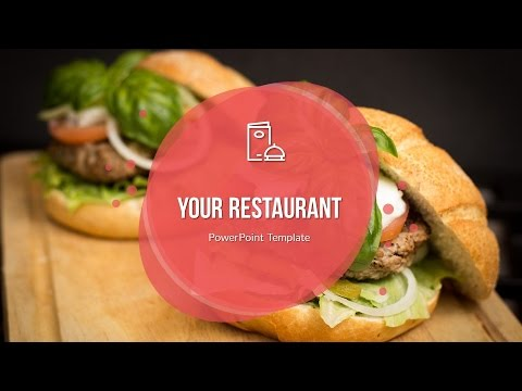 Food Drinks Powerpoint Presentation Template Youtube