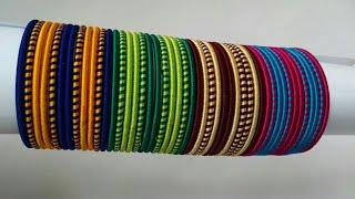 Kalar-4|| DIY double colour silk thread jewelry /simple and elegant bangles