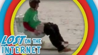 Most Creative Sledding (Fails) - Toilet, bed bunk, porta potty - Lost on The Internet