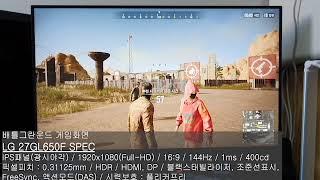 LG전자 울트라기어 27GL650F 리뷰(모니터 불량화…