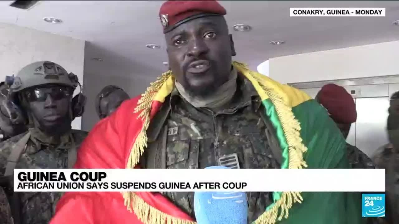 Download African Union says suspends Guinea after coup • FRANCE 24 English