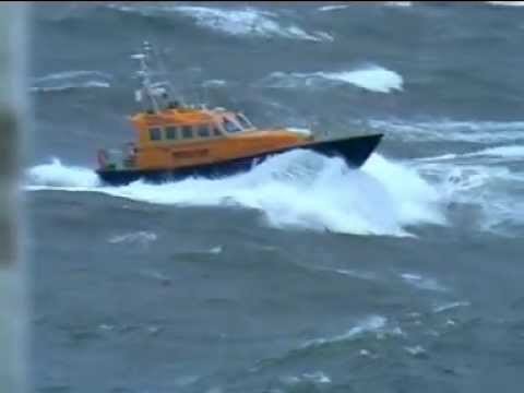 Faroes Island Interceptor 48 Search & Rescue 48, in Force 8-9