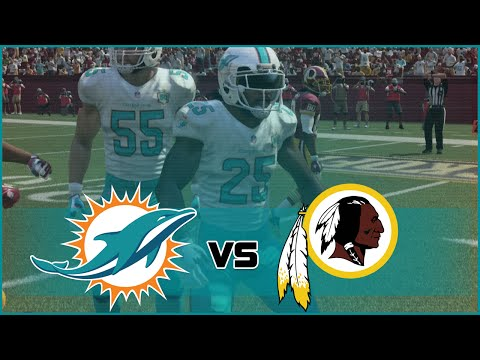 Madden NFL 16 Miami Dolphins Franchise- Year 1 Game 1 at Washington Redskins