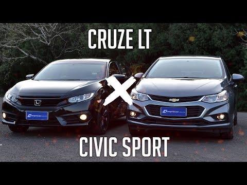 Comparativo: Cruze LT x Civic Sport