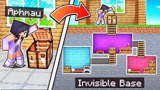 100% INVISIBLE Door To My SECRET Minecraft Base!