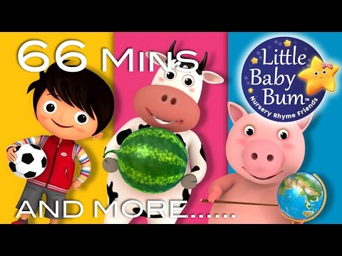 Shapes Songs | Circles | Plus Lots More Nursery Rhymes | 66 Minutes Compilation from LittleBabyBum!