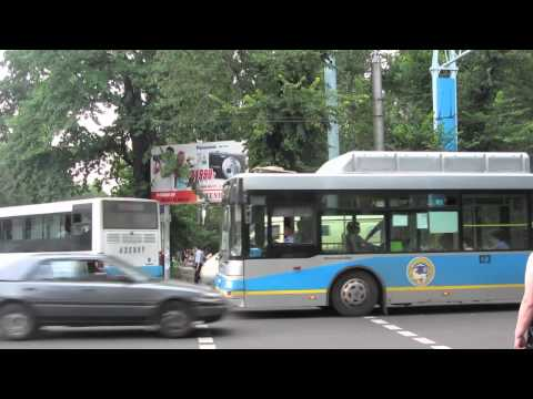Trolleybuses and Buses in Almaty, Kazakhstan