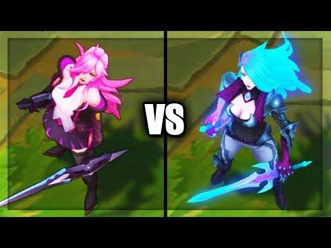 Battle Academia Katarina vs Death Sworn Katarina Epic Skins Comparison - League of Legends