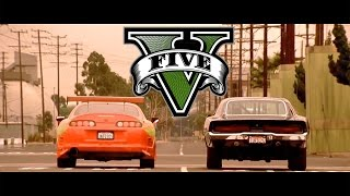 GTA V The Fast and The Furious - Drag Race Scene PS4