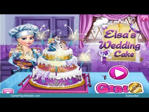 Elsa s wedding cake online game baby girl cooking games youtube