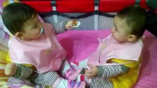 Emzik kavgası ikiz bebekler