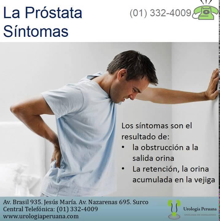 k síntomas de próstata