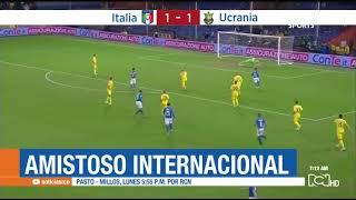 Italia empata con Ucrania en juego amistoso