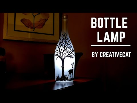 Bottle Lamp/Bottle Art/ Bottle decoration/Bottle Craft
