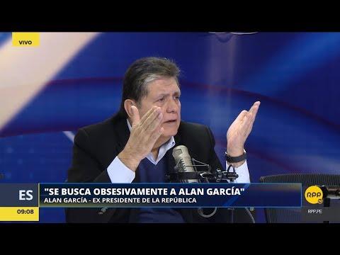 """Alan García: """"Se busca obsesivamente a Alan García""""│RPP"""