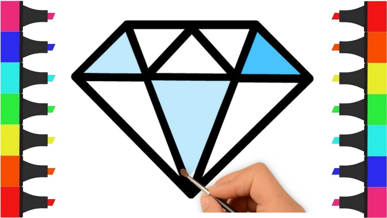 Diamond Coloring Pages For Kids Kids Coloring Videos Diamond Coloring Video For Kids Learn Color